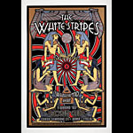 Dennis Loren Scarce White Stripes Egyptian Motif Large Silkscreen Poster