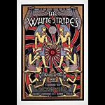 Dennis Loren Scarce White Stripes Egyptian Motif Large Silkscreen Poster