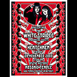 Dennis Loren White Stripes  Hentchmen Detroit Masonic Temple Poster