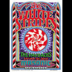 Gary Grimshaw White Stripes  The Paybacks Detroit Masonic Temple Poster