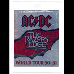 AC/DC 1990-1991 Razor's Edge Tour Laminate