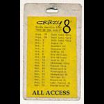 Crazy 8s North America 1987 Tour All Access Laminate