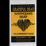 Grateful Dead It's Everybody's Fault Earthquake Relief Benefit Show Laminate