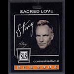 Sting Sacred Love 2004 Tour Laminate