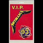Metallica 1993 Tour VIP Laminate