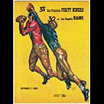 1956 San Francisco 49ers vs Los Angeles Rams Pro Football Program