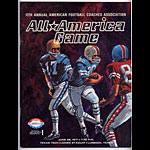 1971 All America Game  College Football Program