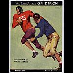 1937 Cal Bears Vs Washington State College Football Program