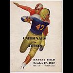1947 Cardinals Vs Aztecs College Football Program
