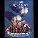 1982 Texas vs Alabama Cotton Bowl College Football Program