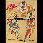 1957 San Francisco 49ers vs New York Giants Pro Football Program