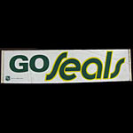 California Seals GO SEALS 1970 Hockey Bumper Sticker