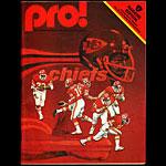 Oakland Raiders vs Kansas City Chiefs Program Pro Football Program
