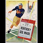 1951 Kentucky Vs George Washington College Football Program
