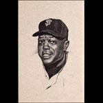 Bill Bates Willie Mays San Francisco Giants Portrait Art Print