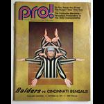 Oakland Raiders Cincinnati Bengals 1971 Pro Football Program