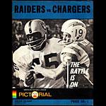 1967 Oakland Raiders vs San Diego Chargers Pro Football Program