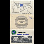 Oakland Coliseum February 1967 Event Schedule Pocket Schedule