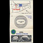 Oakland Coliseum April 1967 Event Schedule Pocket Schedule