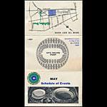 Oakland Coliseum May 1967 Event Schedule Pocket Schedule