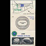 Oakland Coliseum June 1967 Event Schedule Pocket Schedule