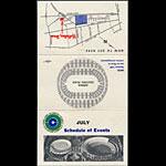 Oakland Coliseum July 1967 Event Schedule Pocket Schedule