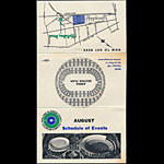 Oakland Coliseum August 1967 Event Schedule Pocket Schedule