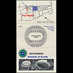 Oakland Coliseum September 1967 Event Schedule Pocket Schedule