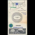 Oakland Coliseum January 1968 Event Schedule Pocket Schedule
