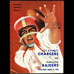 Los Angeles Chargers vs Oakland Raiders 8/19/1960 Game Pro Football Program