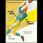 San Diego Chargers vs Oakland Raiders 10/22/1961 Game Program Pro Football Program