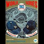 1963 World Series Los Angeles Dodgers vs New York Yankees Baseball Program