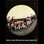 1969 World Series Baltimore Orioles Baseball Program