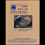 1988 PAC-10 Football Guide College Football Program