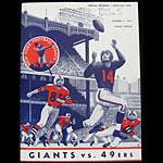 San Francisco 49ers v New York Giants Pro Football Program