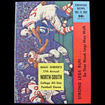 1962 North-South College All-Star Program College Football Program