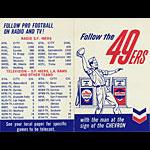 San Francisco 49ers Chevron 1962 Pocket Football Schedule