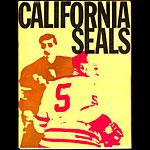 California Seals vs San Diego Gulls Game Program Hockey Program