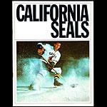 California Seals vs Portland Buckaroos WHL Game Program Hockey Program