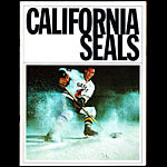 California Seals vs San Diego Gulls WHL Game Program Hockey Program