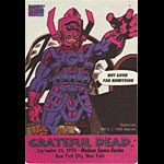 Grateful Dead 9/25/1995 Galactus Marvel Cancelled Show Backstage Pass