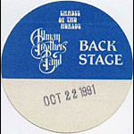 Allman Brothers Band 1991 Blue Backstage Pass