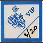 Allman Brothers Band 1991 Blue VIP Pass