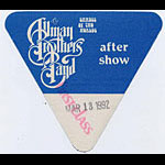 Allman Brothers Band 1992 Blue After Show Pass