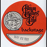 Allman Brothers Band 1993 Red Backstage Pass
