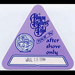 Allman Brothers Band 1994 Purple After Show Pass