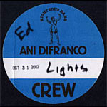 Ani DiFranco Backstage Pass