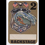Beach Boys Surf Patrol Brown Backstage Pass