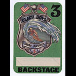 Beach Boys Surf Patrol Green Backstage Pass