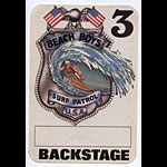 Beach Boys Surf Patrol White Backstage Pass